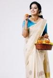Malavika Menon in kerala saree photos2341-4
