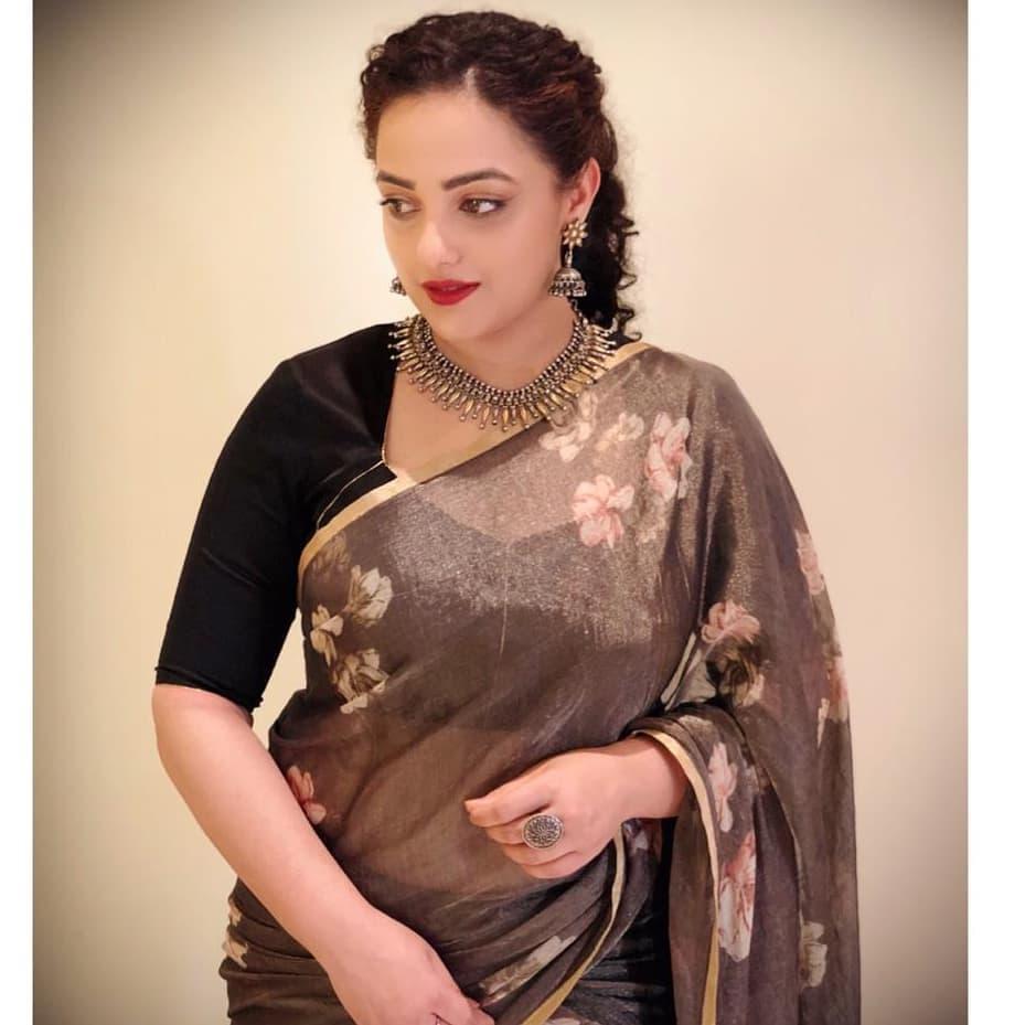 Nithya Menon saree hd images-1
