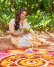 rachana narayanankutty new onam saree photos -001