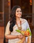 rachana narayanankutty new onam saree photos -002