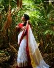 rajisha vijayan in kerala saree photos-003