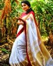 rajisha vijayan in kerala saree photos-004