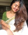 actress shaalin zoya latest onam kerala saree photos
