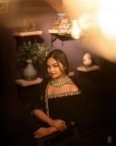 shalin-zoya-photos-in-black-saree