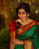 shamna-kasim-latest-photos-in-green-saree-003