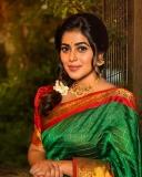 shamna-kasim-latest-photos-in-green-saree