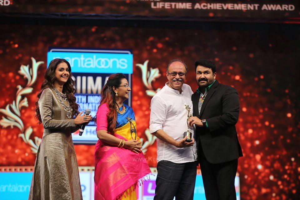 keerthy suresh and family at siima awards 2019 photos 064