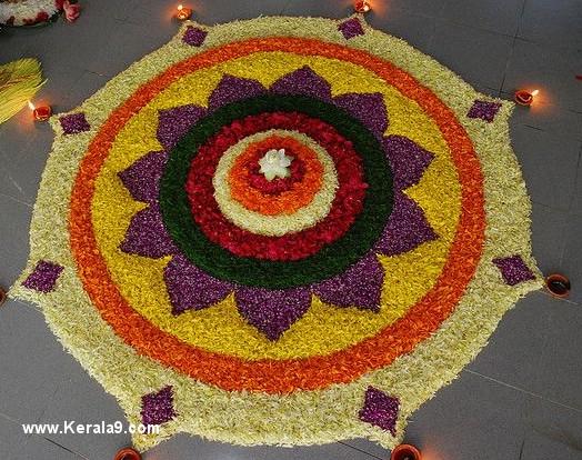 very easy onam pookalam designs