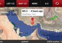 Earthquake in Iran