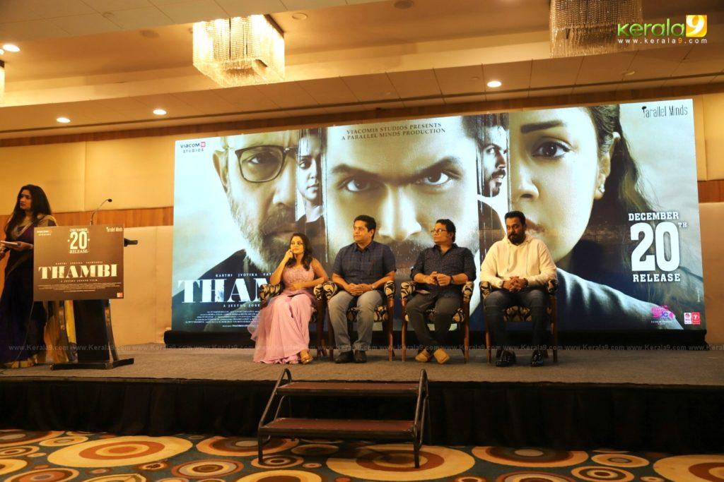 Thambi Tamil Movie Kerala Press Meet Photos 017