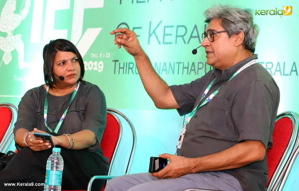 iffk 2019 day 3 photos.Shai Heredia and Ruchir Joshy in tagorg theatre