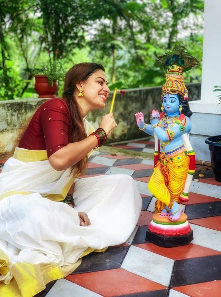 anusree vishu celebration pics