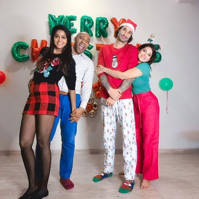Celebrities Christmas Celebration Photos 2020 042