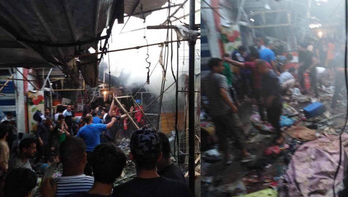 market Baghdad bomb blasted