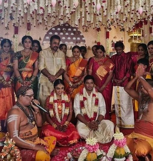 saranya ponvannan daughter marriage photos