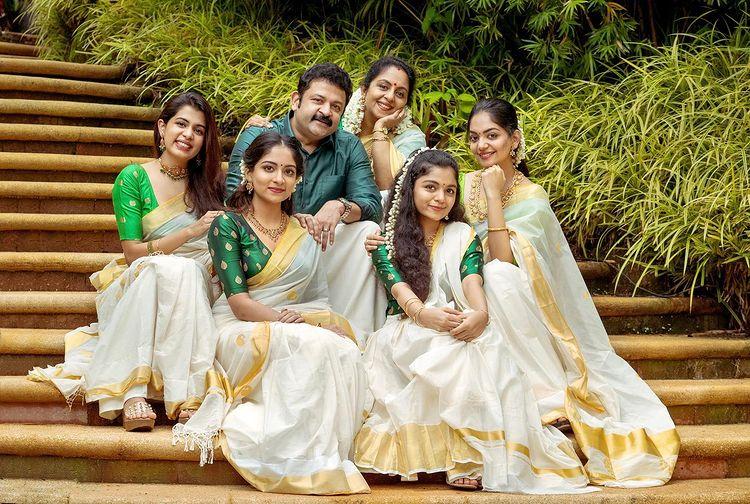 krishnakumar family onam photos