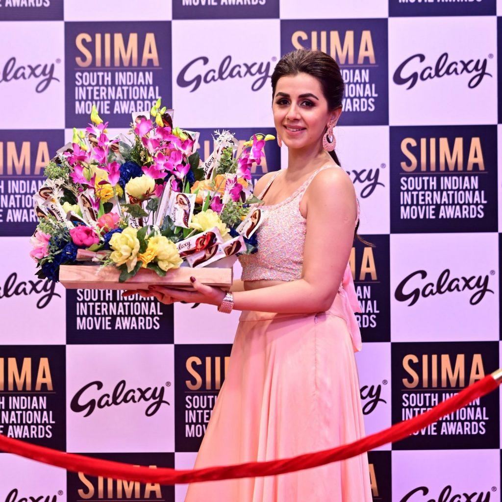 Nikki Galrani at SIIMA 2021 photos