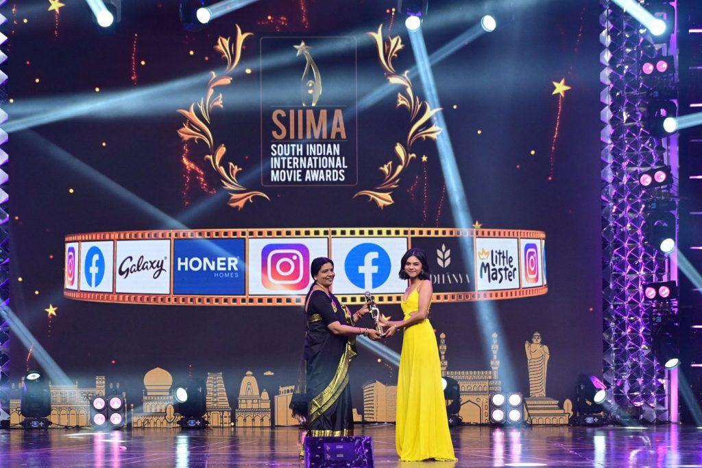 Prarthana Indrajith at SIIMA 2021 photos 1