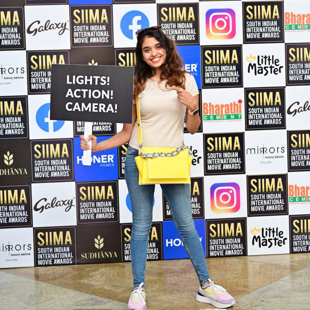Sree leela at SIIMA 2021 photos 6