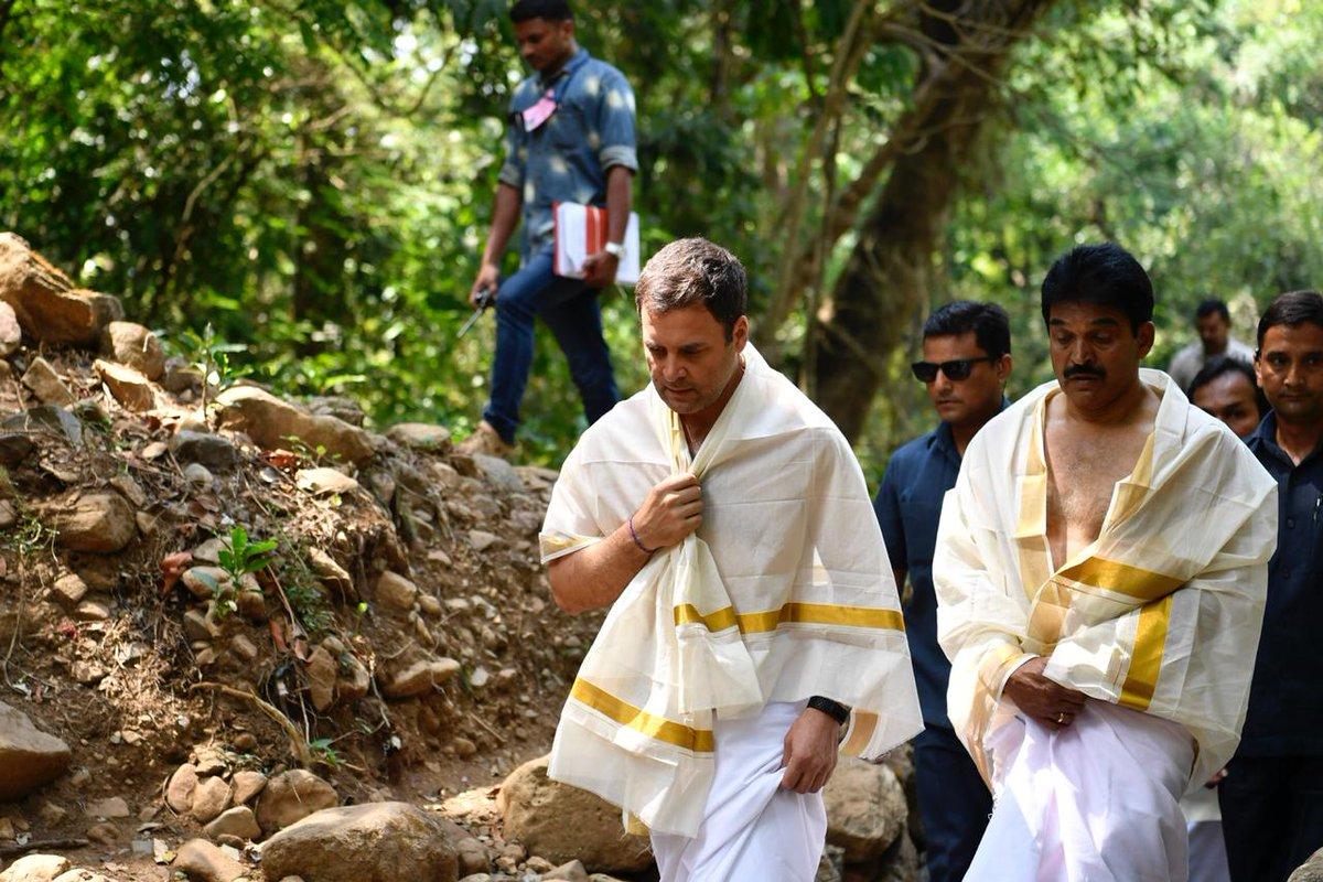RahulGandhi visits the Thirunelli Temple 004 - Kerala9.com